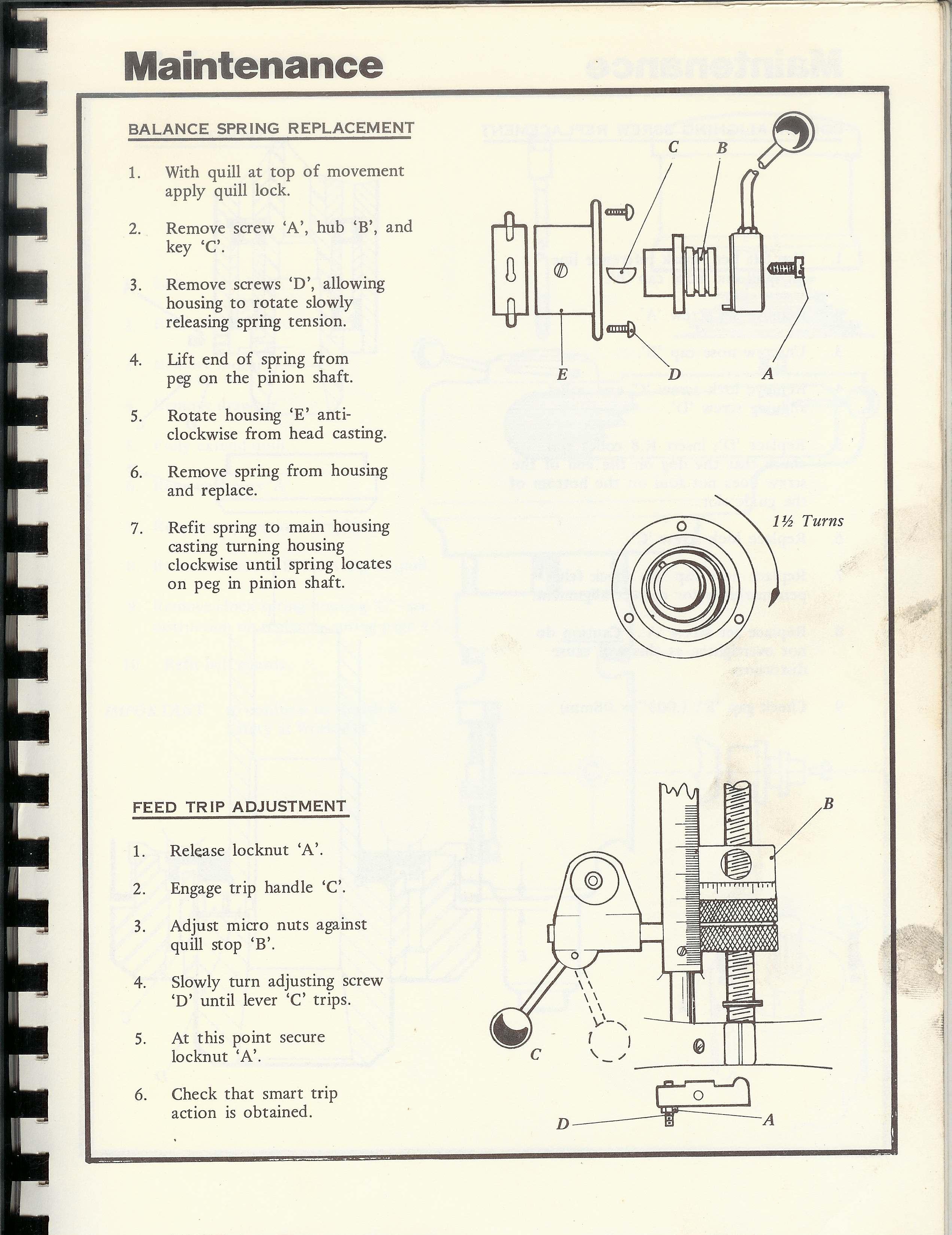 Bridgeport 1j Repair service Manual